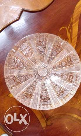 Bohemia Crystal Hand cutted ashtray