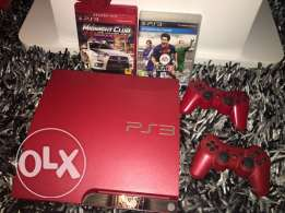 playstation 3 red color