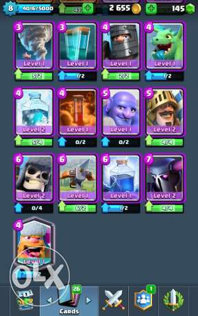 للبيع clash Royale account