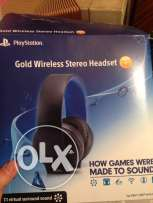 gold headset playstation