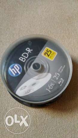 Blu-Ray blank Disks HP BD-R 25GB Single Layer