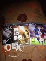 call of duty black ops 2+last of us+fifa 16