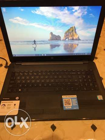for sale hp laptop 15inch touch screen (intel 6th i5 gen) used 2 month شيراتون -  2