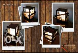 Handmade wooden table lamp