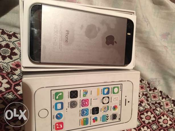IPHONE 5s 16g silver no scratch السيوف -  7
