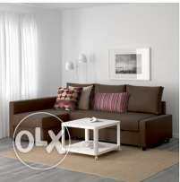 Corner sofa-bed, Skiftebo brown
