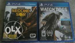 WATCHDOGS and Infamous second son perfect condition (codes unused)