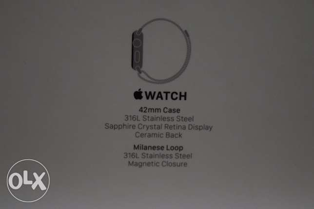 apple watch 42mm stainless steel حلوان -  6