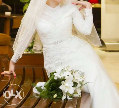 wedding dress came from turky use once