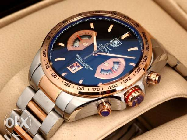 Tag heuer calibre17 half rose gold