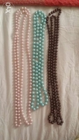 3 necklaces new 15 for each with beautiful colours