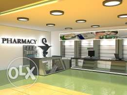 pharmacy48m for sale in mall commerical