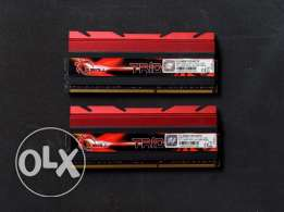 G skill TridentX 2x4gb DDR3 2400 CL10 رامات