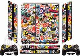 PS4 Sticker Bomb Skin with free light bar For PlayStation 4