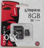 كارت ميمورى كينجستون الاصلى 8جيجا متبرشم Memory card Kingston