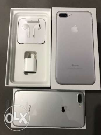 "iPhone 7 plus 128g silver or black ""unlocked "" brand new بنها -  5"