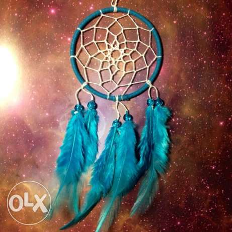 light blue and white Dreamcatchers