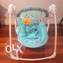 Bright Starts Portable Swing- As new with box at half price