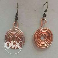 Copper rounded earrings