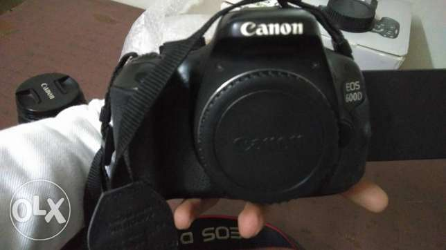 canon 600d+lens18-55mm +box + battray greb