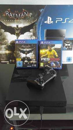 ps4 new with pes16 and batman with serial حلوان -  1