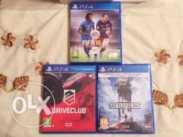 "FIFA 16 / Drive club / Star Wars ""BattleFront"""