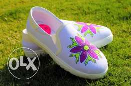 Women Shoes hand made coloring