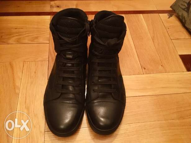 Kennethcole Reaction Hi-top black leather sneakers