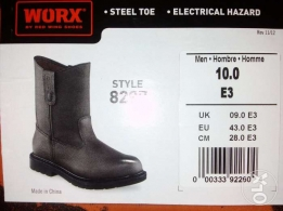 Worx by (Redwing) safety shoe's