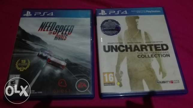 uncharted collection and NFS rivals PS4 used trade or sale