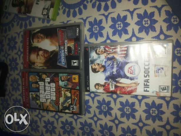 psp games gta ctw raw 2009 and fifa