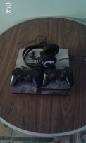 Ps3 500 GB & 2 controllers and microphone headset for online gaming