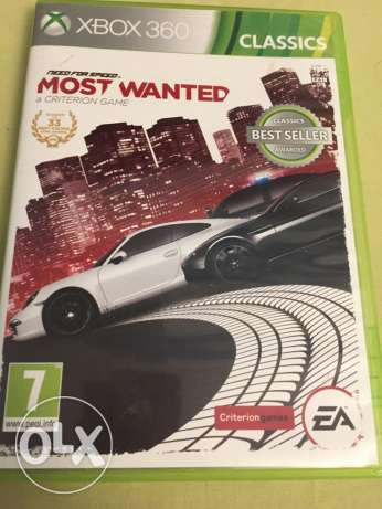 need for speed most wanted للxbox 360