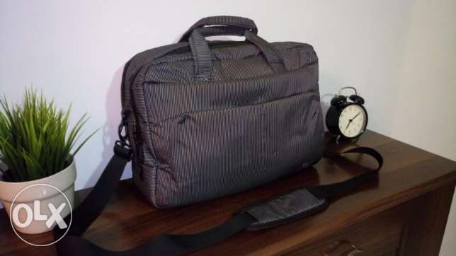 L'avvento Laptop Bag for 15.6 Inch Laptops-Black & Grey Strips 6 أكتوبر -  1