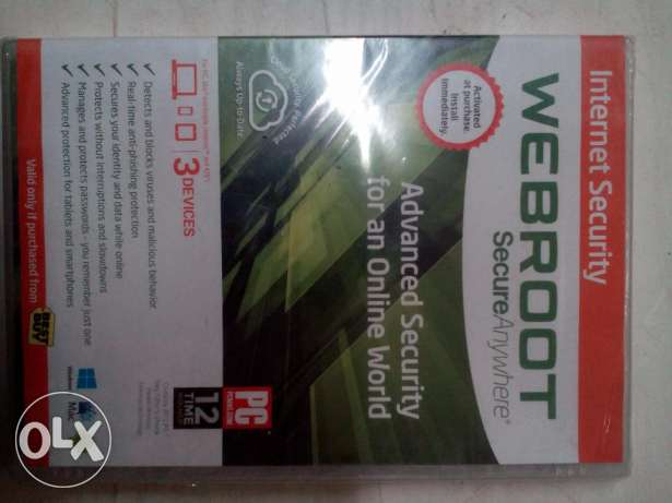Webroot SecureAnywhere Internet Security Plus 3 Device 1CD new