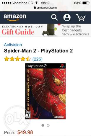 CD Spider-man 2 for playstation2 اصلي عجمي -  1