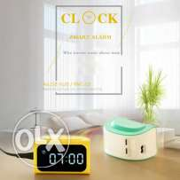 Remax LED Digital NO.Clock Timer Alarm 4USB For Mobile Phone Power Ad