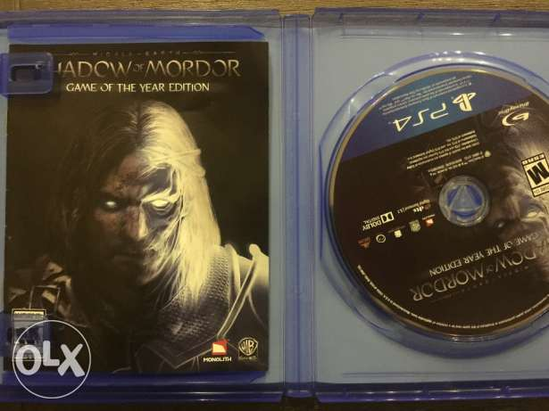 Shadow of mordor, ps4, game of the year edition