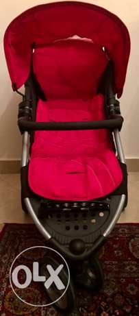 Mothercare Vesta 3 - Wheeler Travel System - Flame Red المقطم -  4