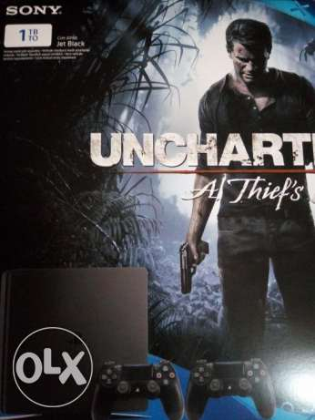 ps 4 slim with uncharted 4 and controller مدينة نصر -  2