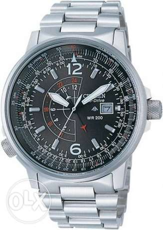 Citizen Promaster Eco-Drive Nighthawk Euro Pilots WatchBJ7010-59E المعادي -  1