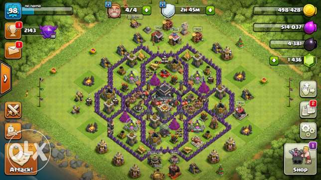 Clash of clans th9 account for sale or trade with ps4 game