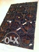 real leather patchwork cowhide rug 175 by 120cm