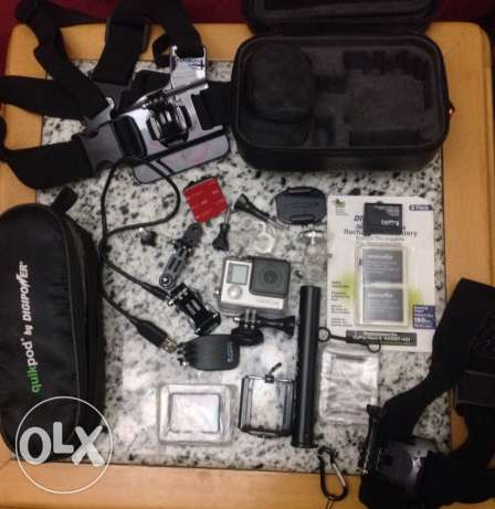 used 5 times go pro hero 4 silver edition with touch screen