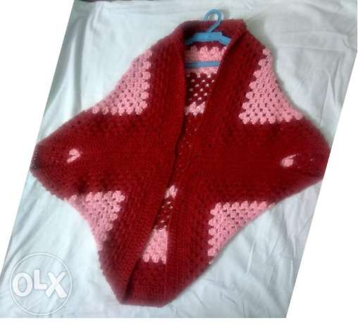 Square Cocoon Sweater crochet Hand Made شبرا -  2