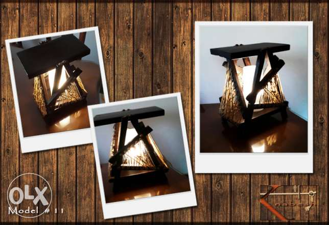 Handmade wooden table lamp شيراتون -  2