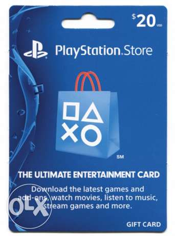 20$ PSN (playstation network) US for sale