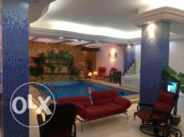 For rent studio 120sqm at al yassmin villas fully furnished