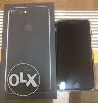 iphone 7plus jet black 128 as new