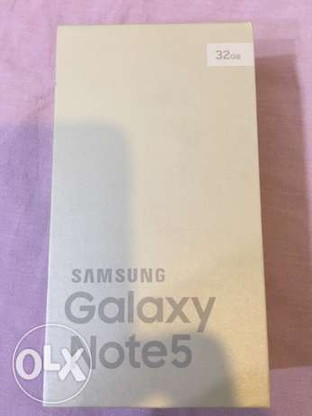 7Note 5 Samsung galaxy white (brand New) from saudi